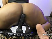 Big Ass Indian Whore Lily Riding On Dildo